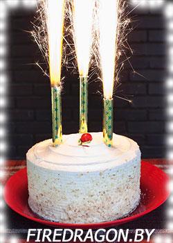 Свеча для торта в магазине пиротехники